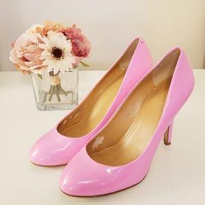J. Crew Bubble Gum Pink Patent Heels Pumps size 7